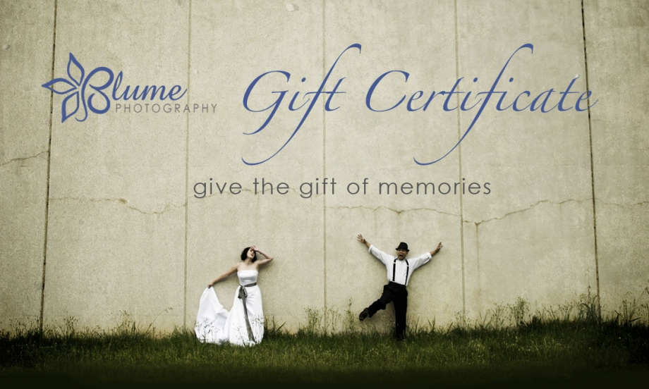 blume gift certificates for christmas blume photography athens