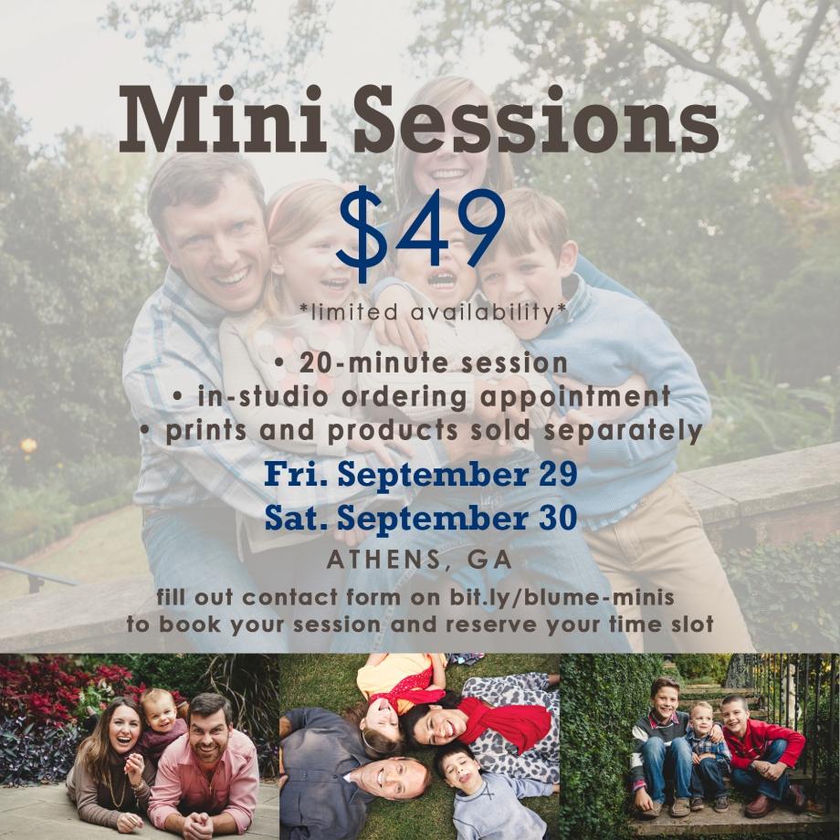 athens mini sessions